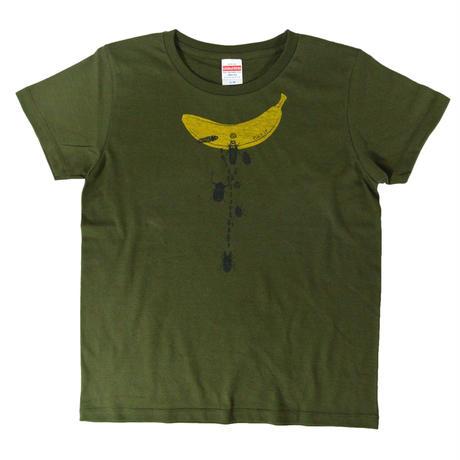 バナナ虫Tシャツ レディース