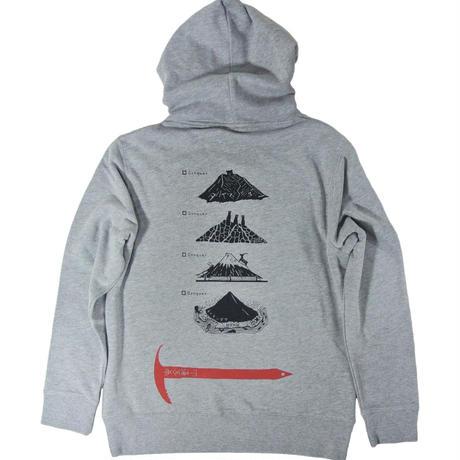 全国名山安全登山パーカー (レターパックプラス発送)