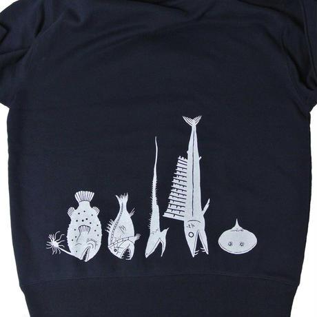 概、深海魚パーカー  ネイビー(レターパックプラス発送)