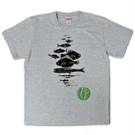 水深別お魚Tシャツ メンズ