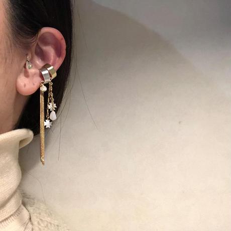 METEORA chain tassel ear cuff :brass