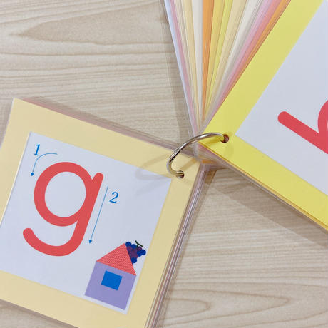 アルファベット書き順カード (小文字)