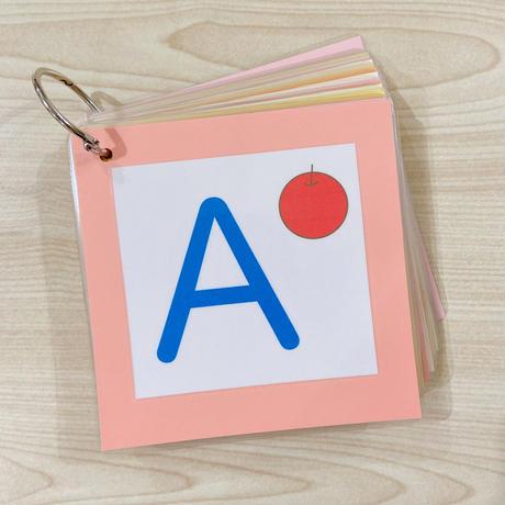 アルファベット書き順カード (大文字)