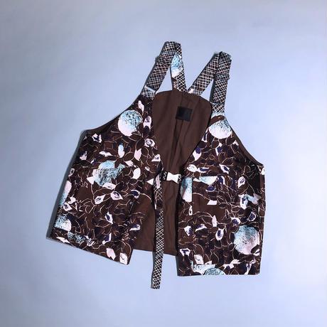 H/H Big pocket vest  (brown)