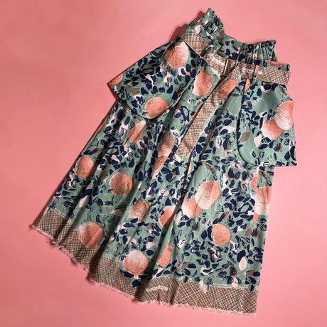 H/H belt pocket skirt  (green)