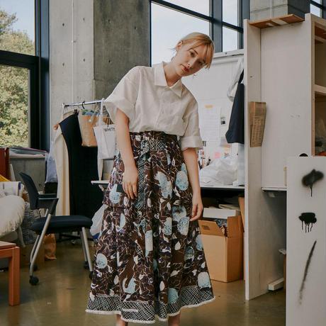 H/H belt pocket skirt (brown)