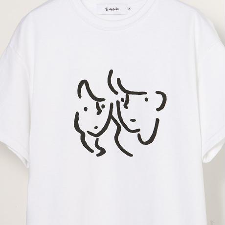 "T-shirt ""Faces"" White"