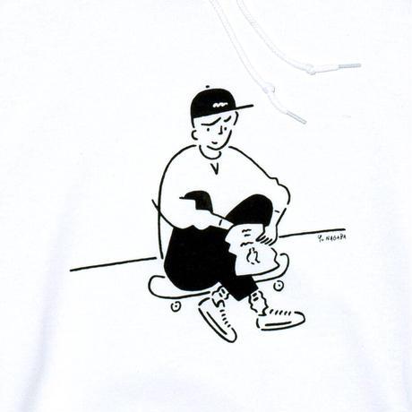 "Hoodie ""Yu Nagaba x Calbee 2"" White"