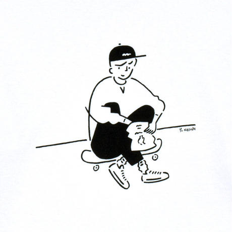 "Long Sleeve Tee ""Yu Nagaba x Calbee 2"" White"
