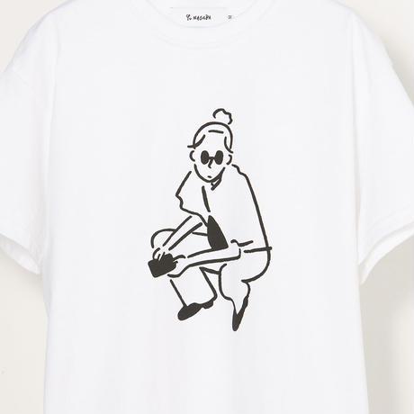 """T-shirt """"Girl05"""" White"""