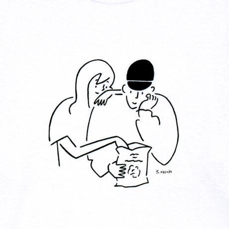 "Long Sleeve Tee ""Yu Nagaba x Calbee 1"" White"