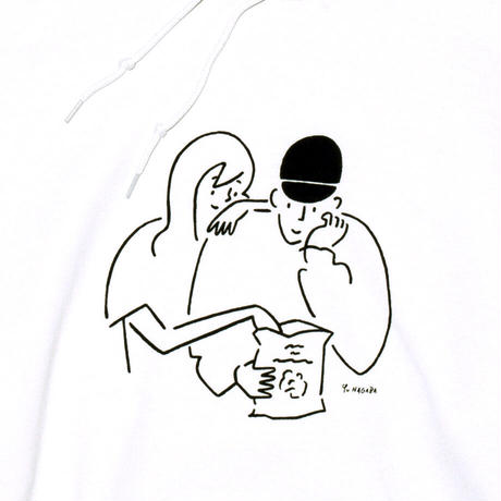 "Hoodie ""Yu Nagaba x Calbee 1"" White"