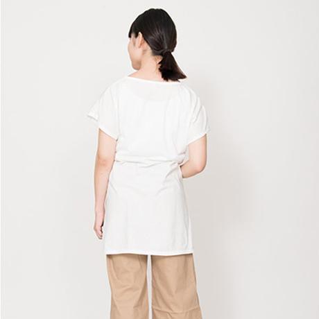 リスのラン・Tシャツワンピース  ホワイト