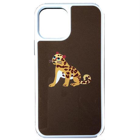 ヒョウのシャイン・フクロウのパルル背面ガラスケース iphone用