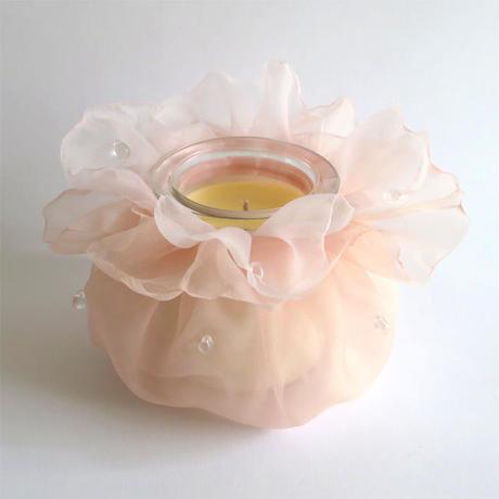 天然アロマキャンドル ー 雫 ー(ピンク)