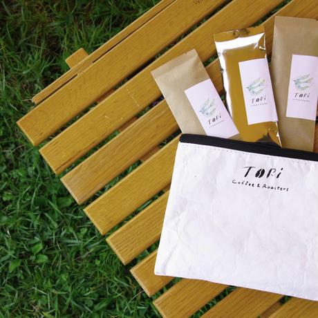【旅するコーヒー】 ハンドドリップ用          豆 or 粉(3包) + 専用ポーチ