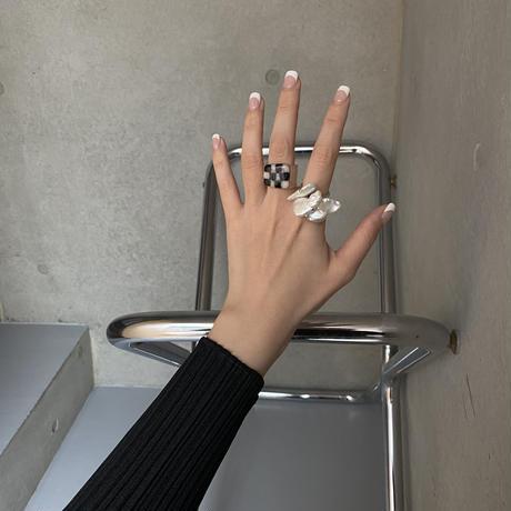 bob.  ring /baroque pearl silver925  12号