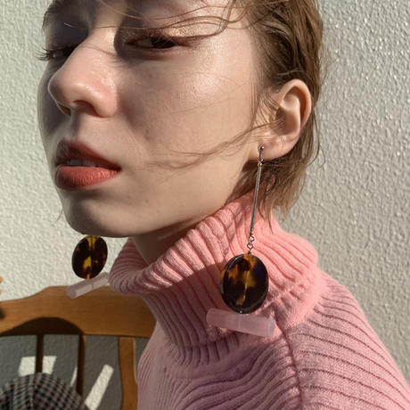 COS _tortoiseshell pink pierce only