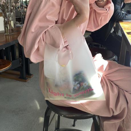light is worn smoke tpu bag