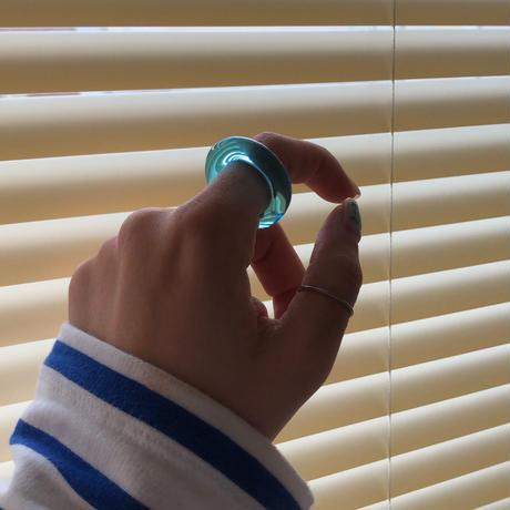 blue glass ring  8号,9号