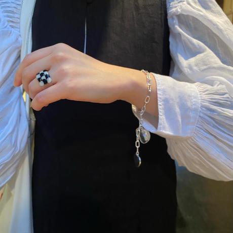checker glass ring