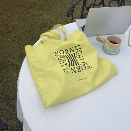 1月出荷予定/light is worn yellow tote bag