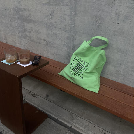 light is worn green tote bag/7月中旬〜7月末納品