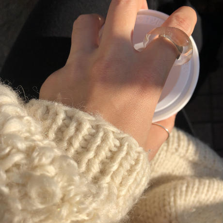 clear glass ring