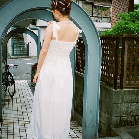 Slit Dress(White)