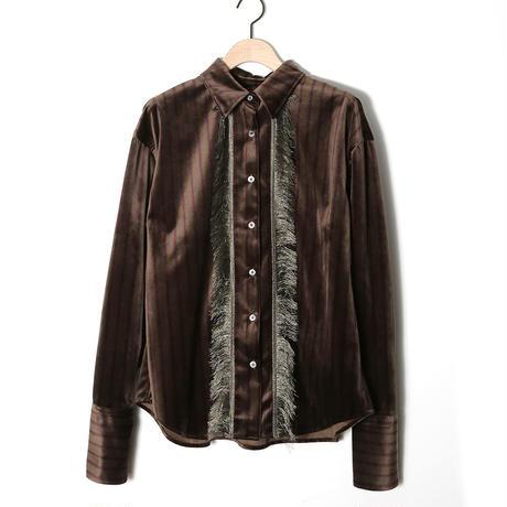 【SARA YOSHIDA×CNLZ】Fringe Shirt 吉田沙良デザイン フリンジシャツ