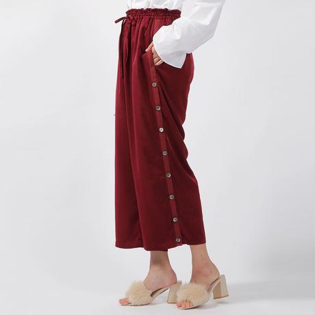 【CNLZ×Sara Yoshida】Silky Drawstring Pants  Slit&Sports SARA ver. / シーエヌエルゼット スリットパンツ 吉田沙良デザイン