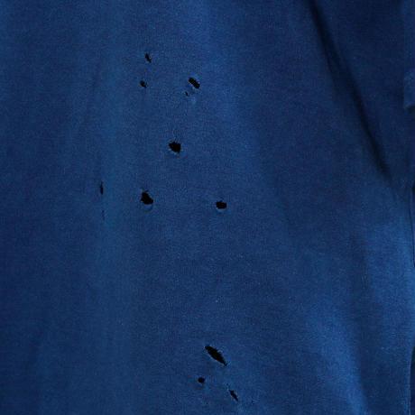 【CNLZ】Organic Damaged Cut INDIGO/シーエヌエルゼット オーガニックダメージカットソー 藍染