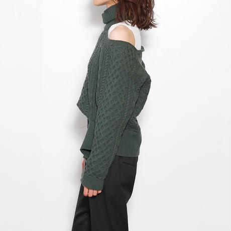【CNLZ】 Alan Turtle Neck Knit/ シーエヌエルゼット アラン タートルネック ニット