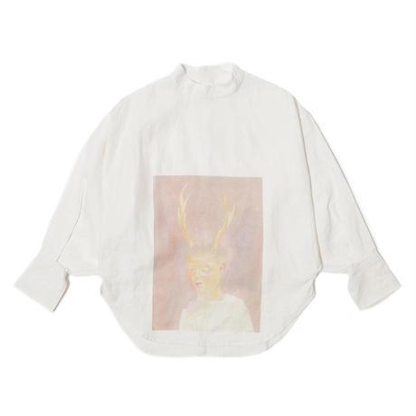 予約販売【Mai Kurosaka×CNLZ】黒坂麻衣コラボ 角の生えた少年 Volume Blouse