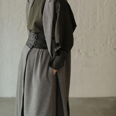 【CNLZ】Sleeveless Long Jacket/シーエヌエルゼット スリーブレスロングジャケット ベスト