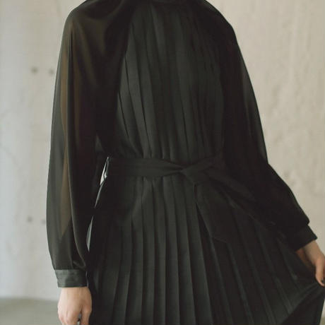 【CNLZ】Pleats Dress/シーエヌエルゼット プリーツドレス ワンピース