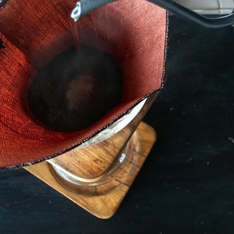 くりかえし使える「柿渋リネンのcoffeeフィルター」2枚セット