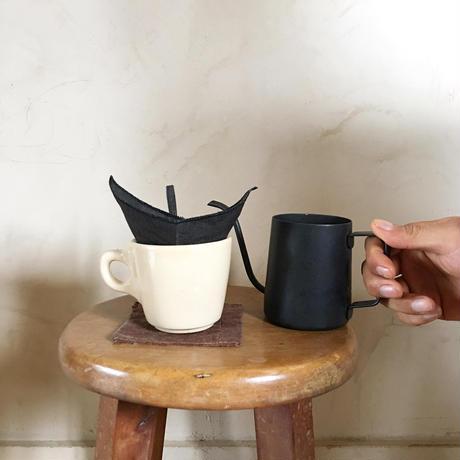 くりかえし使える「柿渋リネンのcoffeeフィルター」墨黒  S size