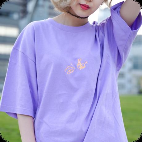 危ないよゆるっぺくん!カタツムリくんから逃げろTシャツ Purple / Ladies