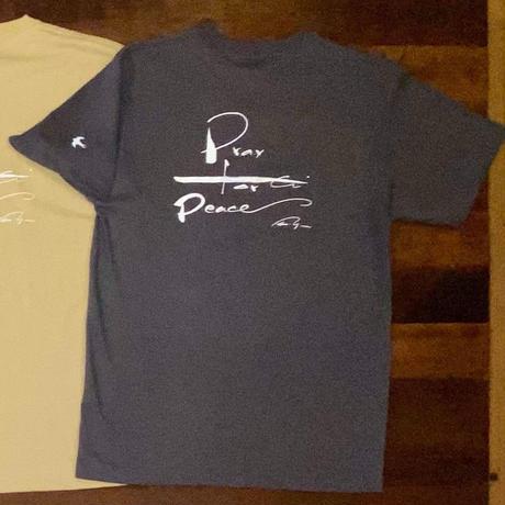 平和を祈るTシャツ ダークグレー