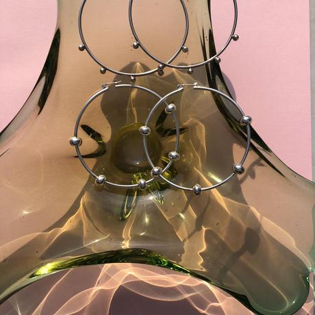 silver hoop pierce  2