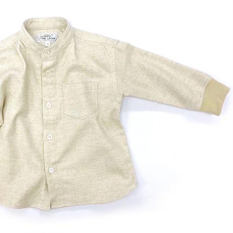 CLOUDY, FINE LATER ドロップショルダースタンドカラー長袖シャツ 522-070040