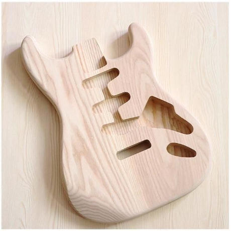アッシュボディ エレキギターボディ ストラトキャスター ボディ 未塗装 stratocaster ストラト 自作用