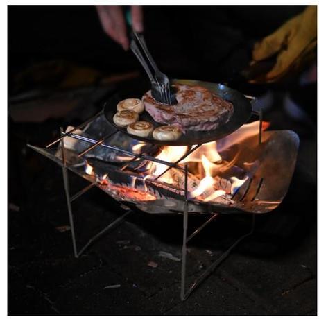 キャンプ 焚き火台 薪ストーブ ステンレス 軽量 多機能 折りたたみ キャンプファイヤー アウトドア 焚火