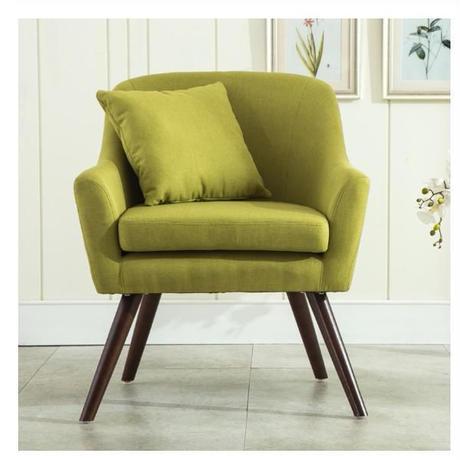 アームチェア ミッドセンチュリーモダンスタイル ソファ リビングルーム家具 シングルソファ 木製 アクセントチェア 6色から選択