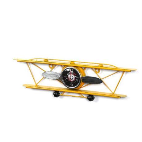 壁掛け時計 レトロ 飛行機デザイン 3種類 おしゃれ 航空機型 時計インテリア ディスプレイ ウォールクロック 輸入雑貨