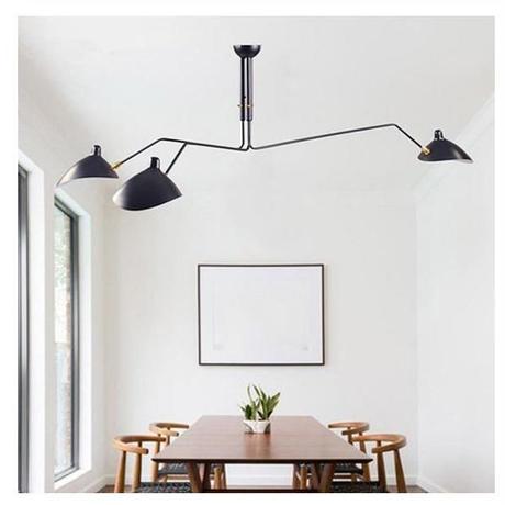 北欧デザイン ヴィンテージ照明 吊り下げ 照明 ペンダントライト 3灯 デンマーク 天吊り ブラック