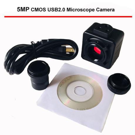 5mp usb cmos カメラ 電子 デジタル 接眼顕微鏡 送料 ドライバ/ 測定ソフトウェア 高解像度ため Win10/7/win8