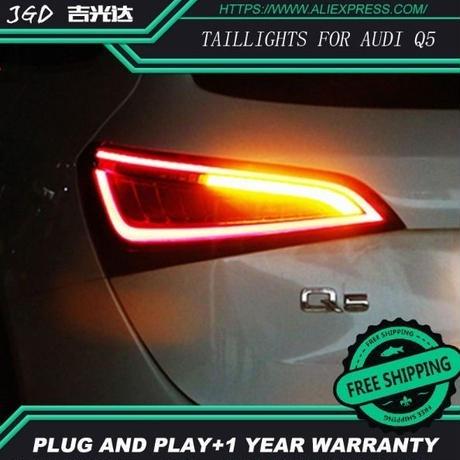 LED 流れるウインカー テールライト アウディQ5 (2009-2015) ブレーキランプ ターンランプ ユーロスタイル ランプカバー