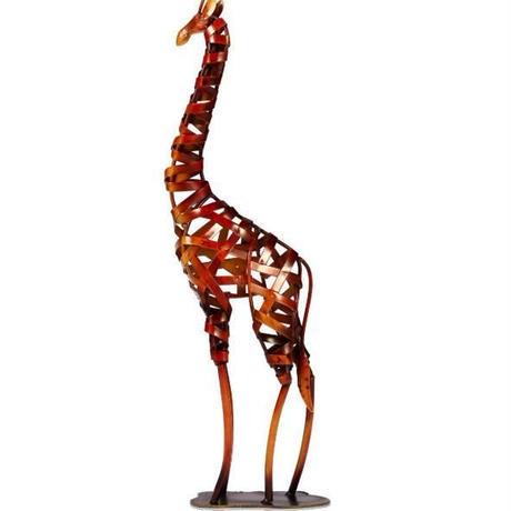 鉄 キリン 金属彫刻 鉄編み ホームアート デコレーション 麒麟 置物